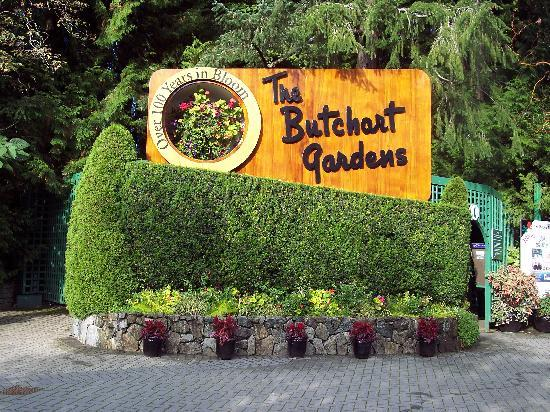 The Butchart Gardens: Entry to gardens