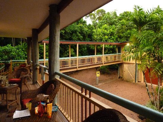 Licuala Lodge: the verandah