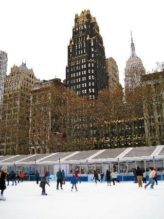 The Bryant Park Hotel: The Bryant Park Christmas Ice Rink