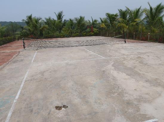 Sun City Resort: Tennis court, not quite like the website
