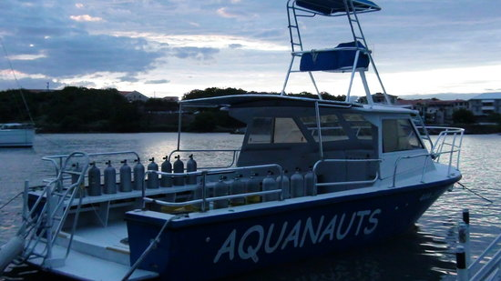 Aquanauts Grenada: a differnet dive boat of thiers (we dove off this one too but only once)