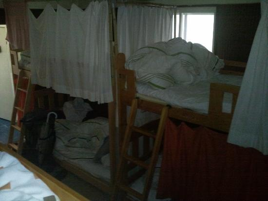 Guest House Koma : our beds, good size and curtains to pull around