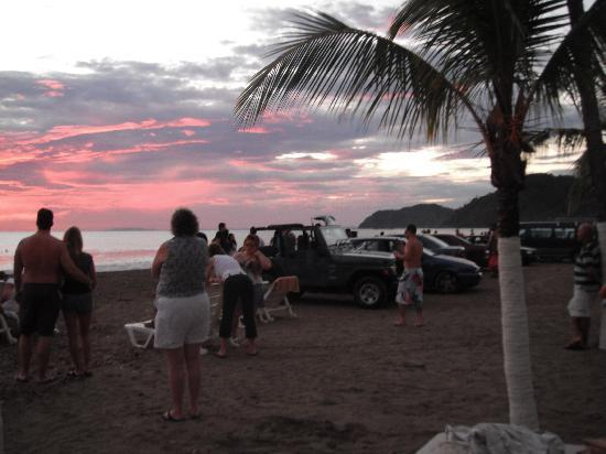 Hotel Balcon del Mar: la plage le soir de noël