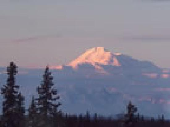 Talkeetna Chalet Bed & Breakfast: View of Denali from the B&B