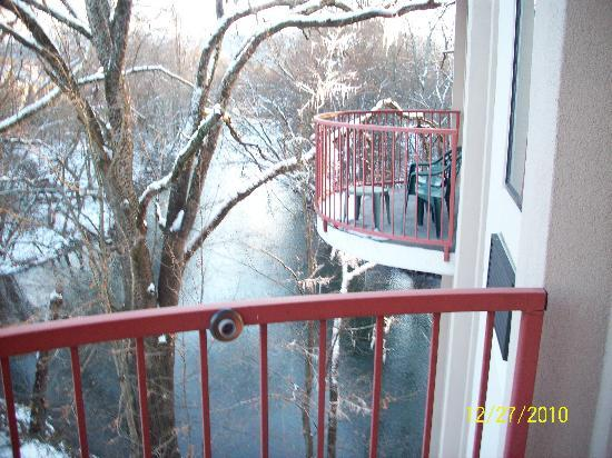 River Bend Inn balcony from 2nd floor