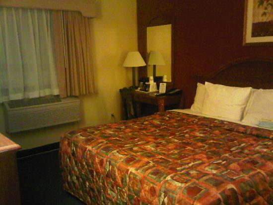 Days Inn Torrington: Bed and End Table