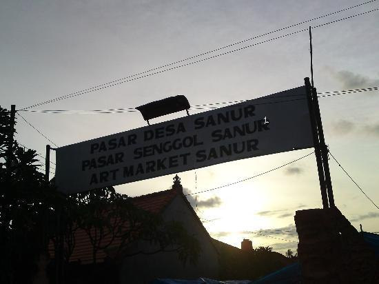 ซานอร์, อินโดนีเซีย: 入口です