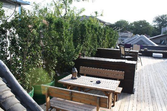 Kellys Courtyard: What a nice place to relax and take in views of the surrounding Hutong