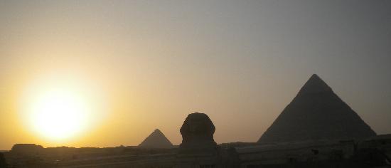 Cairo, Egypt: Giza at sunset!