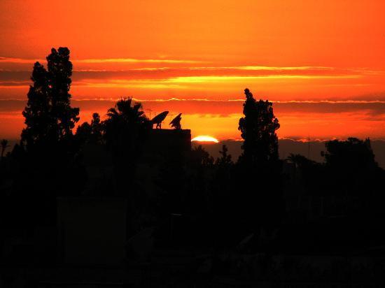 Dar Mo'da: tramonto dalla terrazza