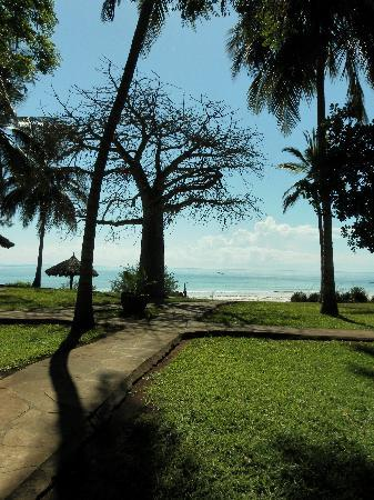 Galu Beach Retreat: view from terrace