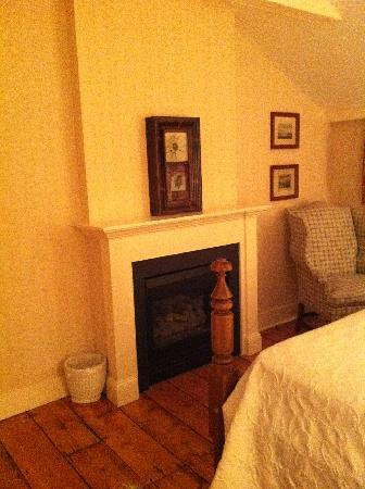 Griswold Inn: The fireplace
