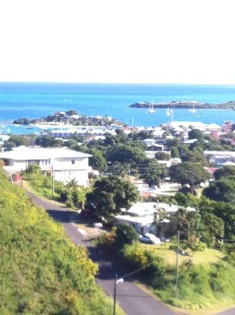 Carringtons Inn St. Croix: VIEW OF CHRISTIANSTED HARBOR FROM CARRINGTONS BALCONY