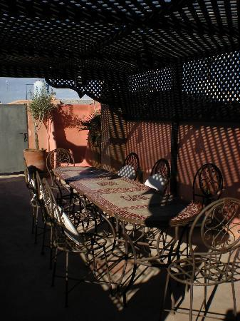 Riad Sharmance: terrazza