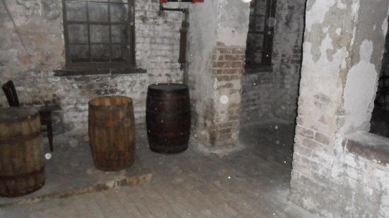 The Pirates' House: Off limits Rum storage room.