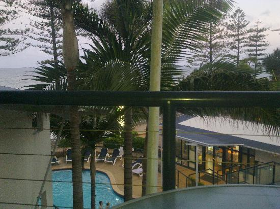 The Beach Retreat Coolum: Our 'Ocean View' from the balcony - which we paid extra for!! Ropable!
