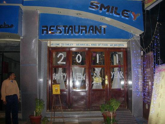 Outside Smiley Restaurant