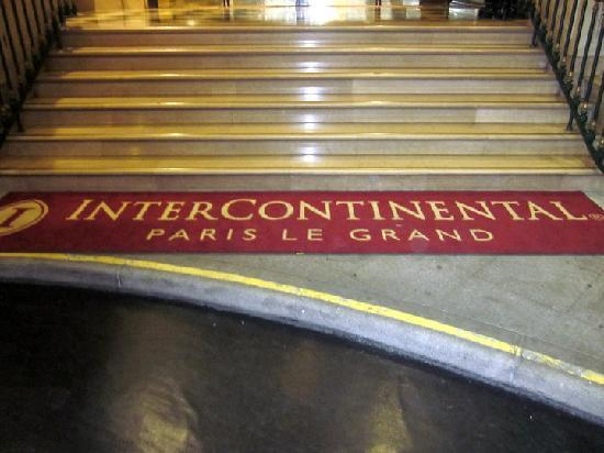 InterContinental Paris Le Grand: Welcome matt