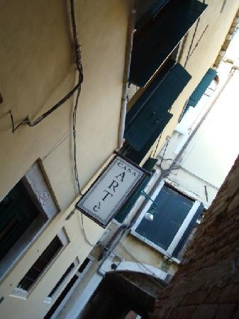 Locanda Armizo: Hotel sign on street in Venice