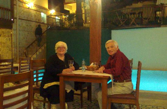 Mediterra Art Restaurant : At the dinner table