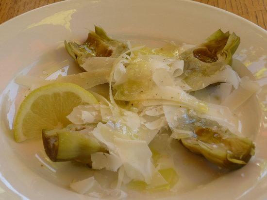 Marianas: artichokes with lemon and parmesan