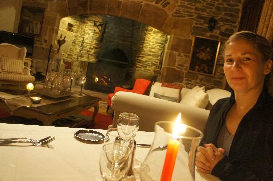 Le Manoir de la Fabregues : Dinner by the fire, winter 2010 at Le Manoir