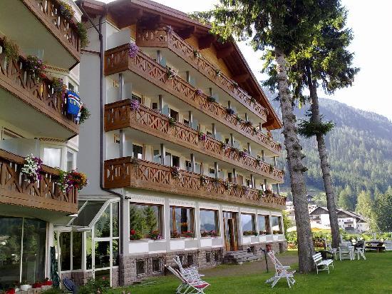 Hotel Catinaccio Rosengarten : l'Hotel e il giardino