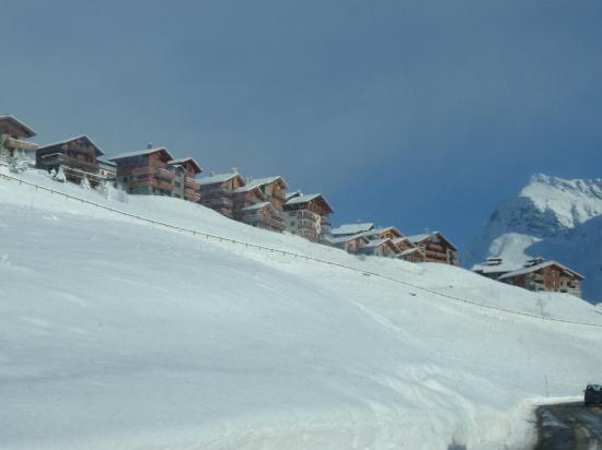 Les Balcons de la Rosiere: view from road