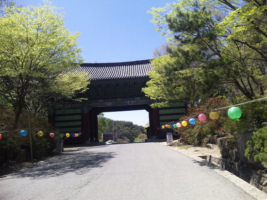 Тэгу, Южная Корея: お寺の入り口です