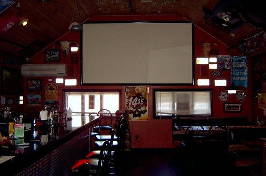 Boneyard Barbecue Saloon: 13 foot TV