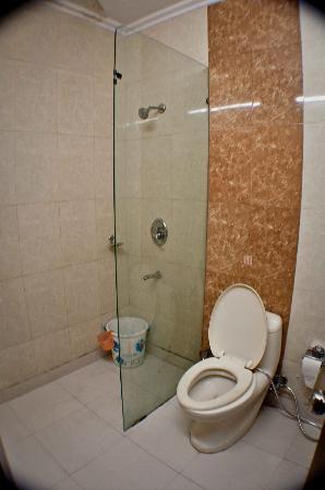 Hotel Delhi Heights: a bathroom