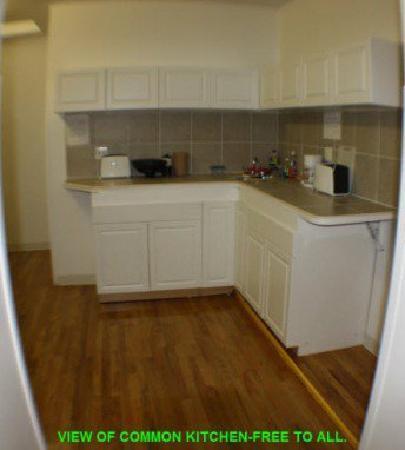 Financial District Hostel: kitchen area