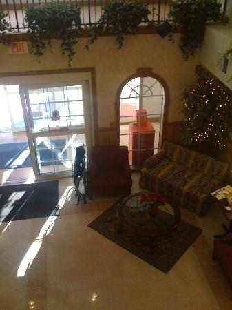 Holiday Inn Express & Suites Orangeburg: lobby view from balcony near elevator