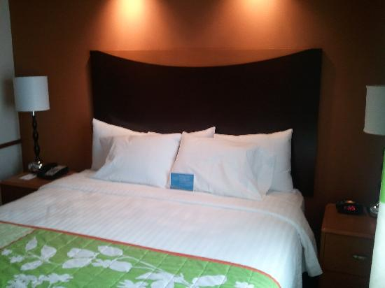 Fairfield Inn & Suites San Antonio NE/Schertz: King Bed with lights above bed