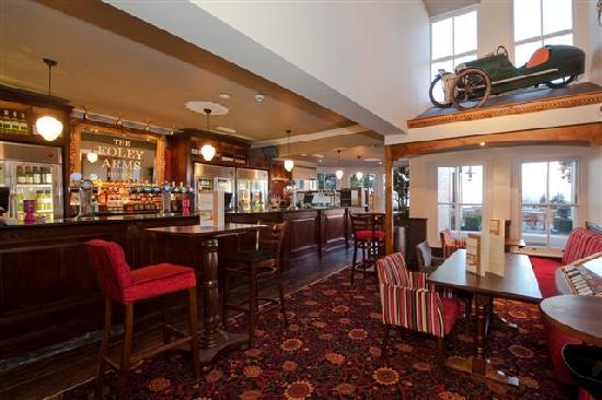 Foley Arms Hotel: The main bar with Morgan Replica