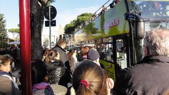 Roma Cristiana Hop On Hop Off Bus: Colosseo stop