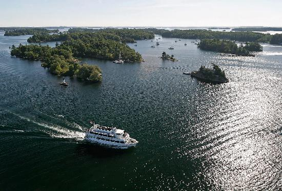 Gananoque, Kanada: A bird's-eye view of the beautiful 1000 Islands
