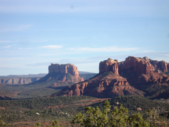 Adobe Hacienda Bed & Breakfast : red hills of Sedona