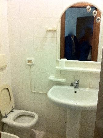 Hotel Cristal : Posizione scomodissima del water