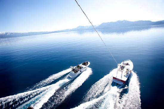 Lake Tahoe (Nevada), NV: Parasailing on Lake Tahoe
