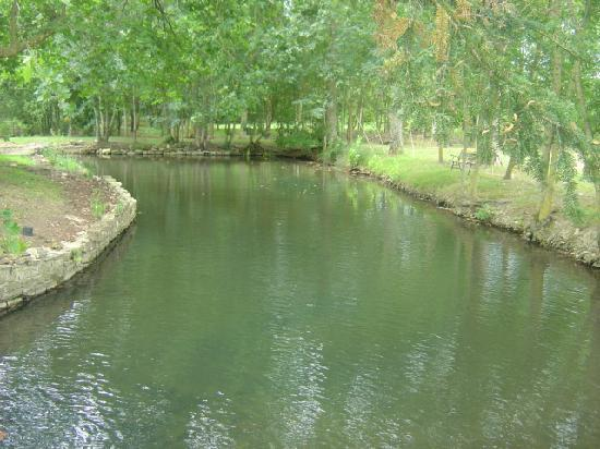 Sainte-Soline, France: Little river running through from the Watermill