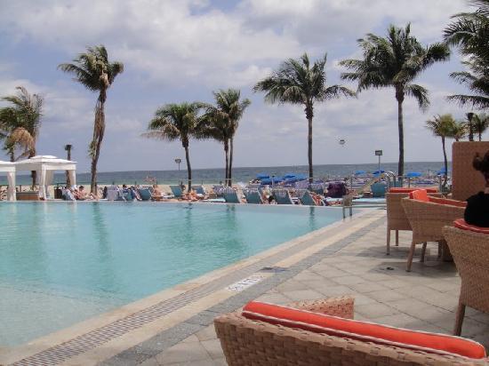 B Ocean Resort Fort Lauderdale Hotel Pool And Bar Area Overlooking The