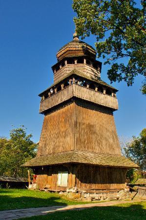 أوكرانيا: Drohobych: Bell Tower of St. Yur Wooden Church