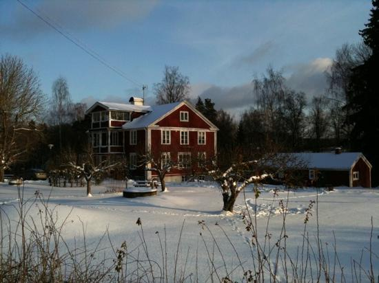 Södertälje, Suède : Vinter på Tvetagårdens vandrarhem