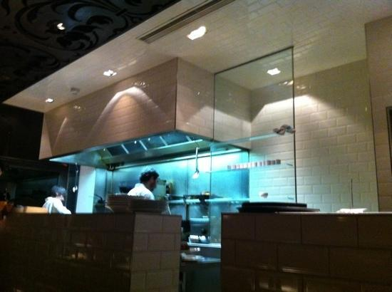 So great that the kitchen is open and the chef greets you at the door