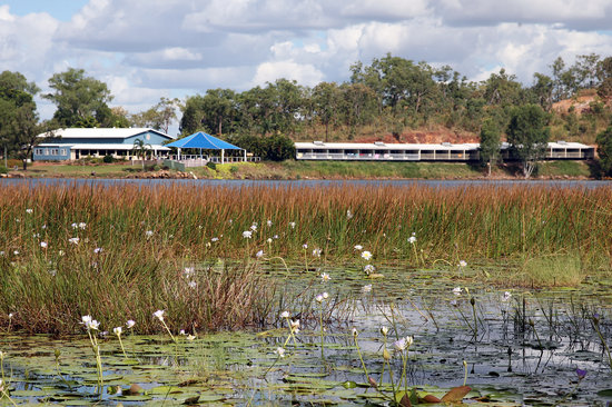 Lake Bennett Resort: View across the Lake To Resort