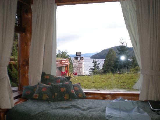 Cabanas La Deseada: Vista desde el interior de la cabaña