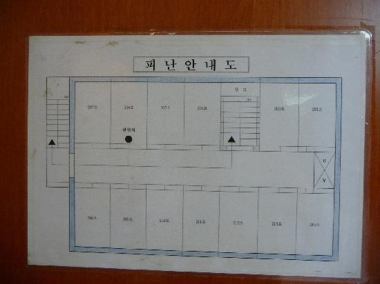 Hotel Princess: 宿泊階の見取り図