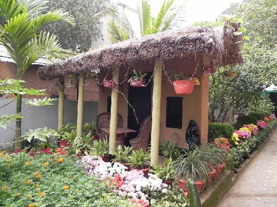 Santiniketan, Inde : model hut