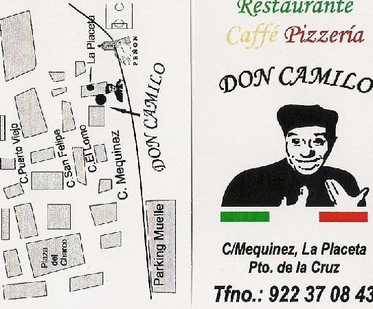 Restaurante-Pizzeria Don Camilo : Flayer